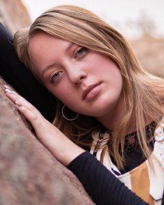 modeling head shot of Ashlyn