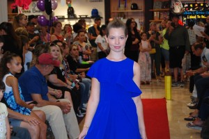 Barbizon Southwest alumni Ruby B., Scarlet C., Jonah B., Talia T., Noah H., and Alexandra B walked in the Dillard's Back to School Fashion Show5