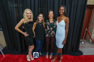 Barbizon Southwest models Aliza Tinker and Eden Abraham were selected to be the glamorous red carpet models for a docu-film premier at the Maya Theater