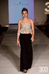 Barbizon Southwest models Karina Rivera, Macee Eppard and Alyssa Lobato were selected to walk in Night 2 of Denver Fashion Week for Tyne Hall3