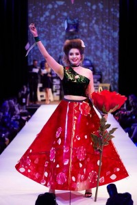 Barbizon Southwest models Karina Rivera and Wendy Perez walked in The Paper Fashion Show segment of Denver Fashion Week2