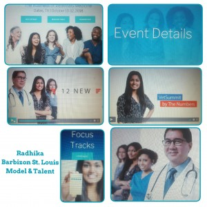 Barbizon St. Louis grad Radhika is featured on the Vet Summit website as a print model