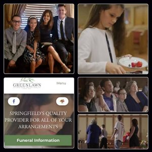 Collage of images taken from the funeral home ads featuring Alexander and Hailey