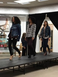 Barbizon St. Louis models Aaliyah, Cheyenne, and Ana were selected to walk in a local Dillards fashion show to launch the new Justin Timberlake:William Rast line