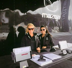 Barbizon St. Louis models Kristy and Kristen worked at the Gateway Raceway as brand ambassadors for Mazda