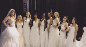 Barbizon TV grads walked in a fashion show for David's Bridal and Men's Warehouse