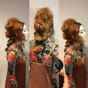Barbizon TV graduate Laura modeled for Wella's stage presentation at the Intercoiffure show in NYC