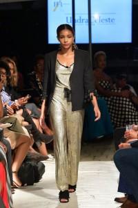 Barbizon TV graduates Jaime and Aileen walked for designer Undra Celeste at Harlem's Fashion Row2