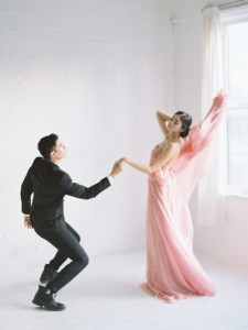 Barbizon TV graduates Meladonna and Nickolas booked a bridal editorial shoot