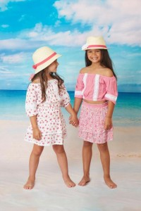 Barbizon TV models Gianna and Madison booked a campaign for the Chach Beachwear Collection