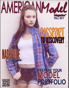 Barbizon Tampa alum Isabelle P. booked the cover of American Model Magazine