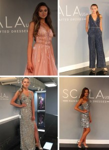 Barbizon Tampa model Karis booked a showroom modeling job for SCALA USA at AmericasMart Atlanta