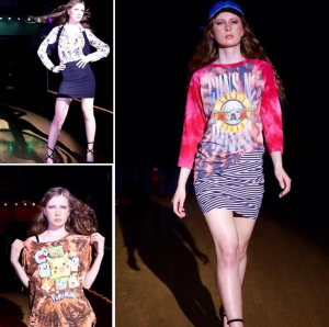 Barbizon alum Amber Himic walked the runway at Catwalk Cartel's 6th Annual Fashion Show for designer Shay Serraj