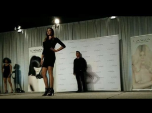 Barbizon alum Angel English was a featured model for Lanza Hair Care in a beauty fashion hair show