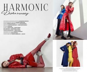Barbizon alum Eva Cavecchi modeled for Latest Magazine in the April issue