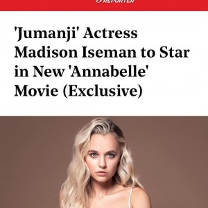Barbizon alum Madison Iseman booked a role in the new Annabelle movie