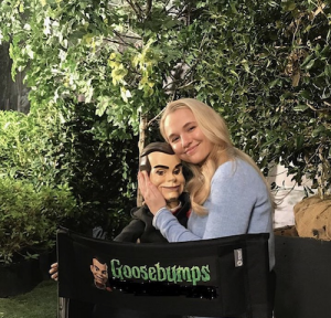 Barbizon alum Madison Iseman started filming the new Goosebumps movie schedule to come out this Halloween