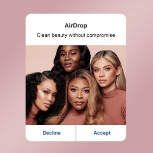 Maria featured on social media with three other models for LYS Beauty