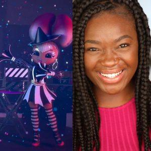 head shot of Tickwanya next to an image of her character, Spirit Queen