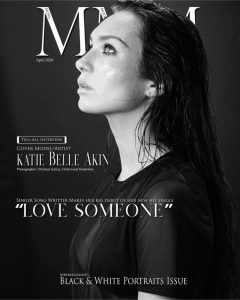 Cover editorial image of Katie Bell as a black-and-white portrait