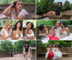 collage of Carmen and Kiara modeling for the WEModel USA campaign