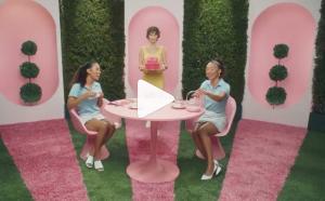 Barbizon alumni Keisha and Kim Davis booked a commercial for Benefit Cosmetics