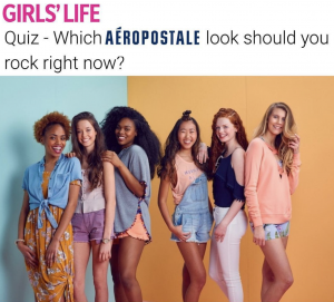 Barbizon alumni Lindsey, Jordan, Candice, Marissa, Haven and Mckenzie are featured in a quiz for Girls' Life Magazine