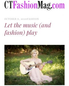 Article cover of Paris Taylor CT feature with an image of her sitting in the grass holding a guitar