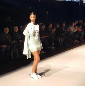 Barbizon of Manhattan alum Kimberly Marte walked in Brooklyn Fashion Week