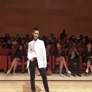 Barbizon of Manhattan alum Kimberly Marte walked in Brooklyn Fashion Week2