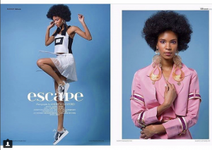 Barbizon of Manhattan graduate Janine modeled for Elléments Magazine