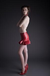Barbizon of Manhattan graduate Karina modeled at a Libertine editorial test shoot in NYC with photographer Susana Rico