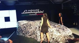 Barbizon of Manhattan models Catherine and Mari worked a promotional event for Lamborghini's Huracan Performante at the Canoe Studio event in NYC