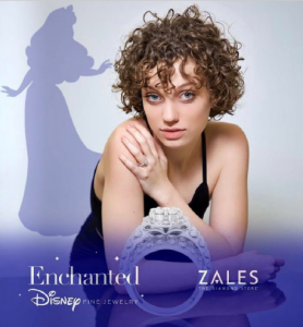 Promotional poster for Zales mockup product featuring Hannah Easley
