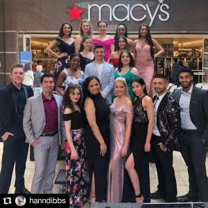 Barbizon of Wilkes-Barre grads walked in a prom fashion show for Macy's