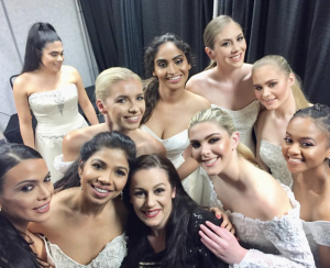 Bridal Models from Barbizon Red Bank showed for bridal designer Adrienn Braun
