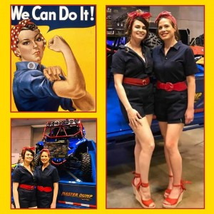 Catherine & Tori, arbizon St. Louis models, were selected to represent Doolittle Trailers at the NATDA trade show