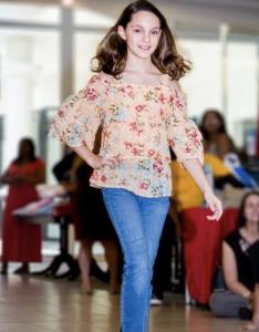 Catie Munson, Barbizon alum, walked in a Belk Fashion Show