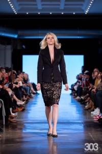 Charlize Golbitz, Barbizon Southwest alum, modeled for Gino Velardi Fashion