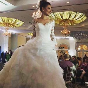 Christina, Barbizon Red Bank model, walked the runway at a local bridal show