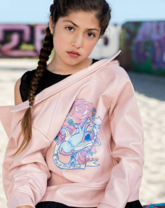 Citlaly, Barbizon Socal alum, modeled for Point Cove Clothing
