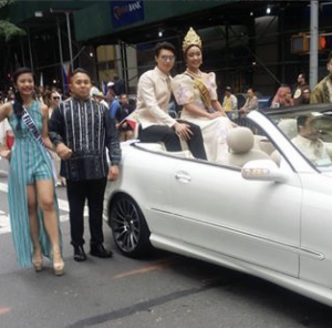 Dazzle, Barbizon Red Bank grad, walked in the New York Filipino Parade