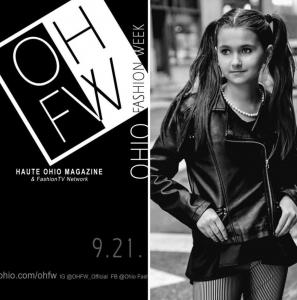 Elaina Christie, Barbizon Central Ohio alum, booked Ohio Fashion Week for Victoria Henley