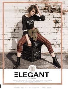 Eleanor Schmidt, Barbizon of Pensacola alum, is featured in an editorial for Elegant Magazine 1