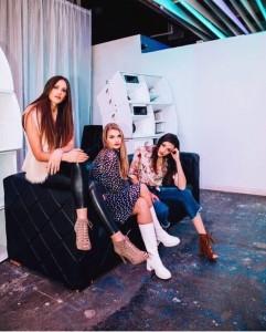 Emery Reid and Ione King, Barbizon Southwest alumni, walked in the Vintage Fringe Fashion Show