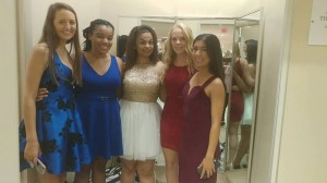 Emily, Shadiah, Asia, Rachael and Kaya, all Barbizon St. Louis alumni, walked in the Dillards South County Homecoming Fashion Show