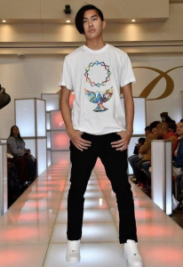 Eric, Barbizon Manhattan student, walked the runway at Bronx Fashion Week for TempleNYC