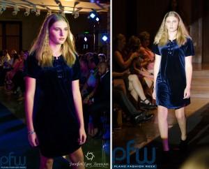 Faith Byers, Barbizon of Jackson, walked in Plano Fashion Week in Dallas