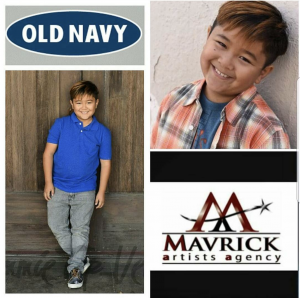 Gabriel Angelo Lajato, Barbizon Socal alum, booked another Old Navy commercial