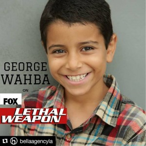 George Wahba, Barbizon Socal alum, is in an episode of Lethal Weapon on Fox
